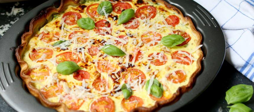 Zucchini Ricotta Tarte mit Parmesan!
