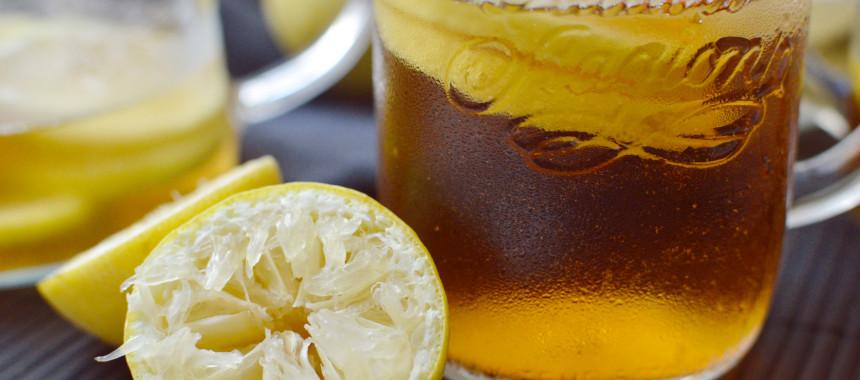 Eistee Pfirsich-Zitrone
