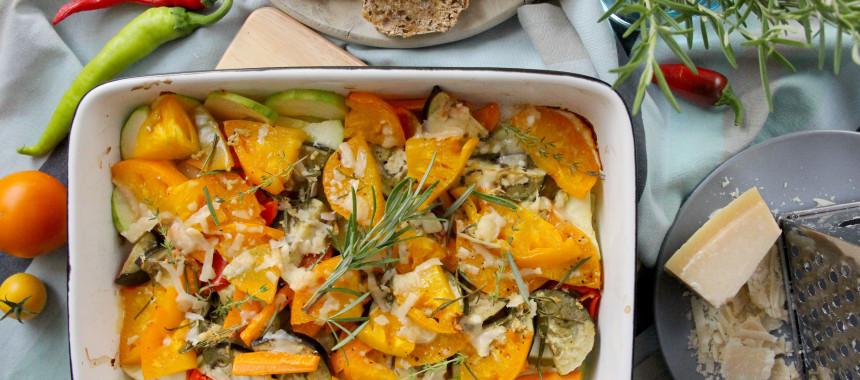 Ofengemüse mit Parmesan und Rosmarin