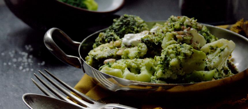 Brokkoli-Pfanne mit würzigem Tofu