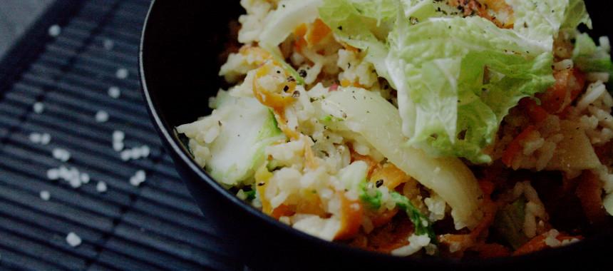 Gebratener Reis mit asiatischem Gemüse